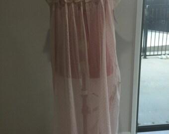 Vintage sheer pink nightgown