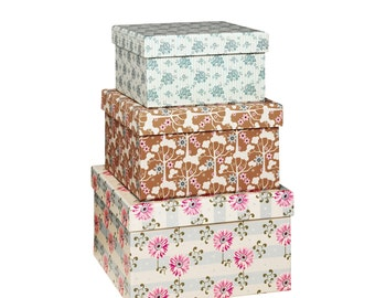 3 boxes Tilda pull-out Diaries - box storage - cardboard box - box gifts