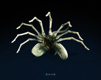 Alien Facehugger A3 Limited Edition Print