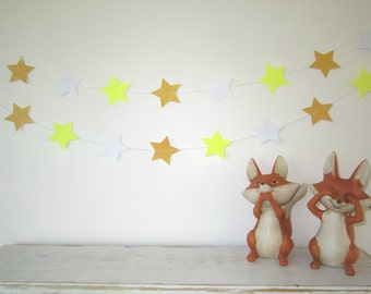 Yellow Palette & Glitter Star Garland