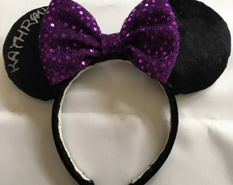 Black Classic ears with name added