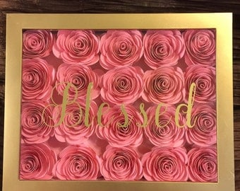 Shadowbox rose picture