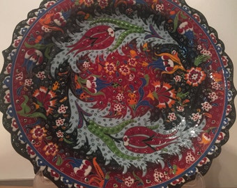 Decorative hand made plate