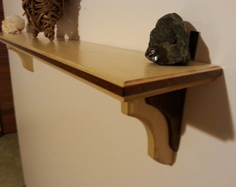 maple and walnut shelf