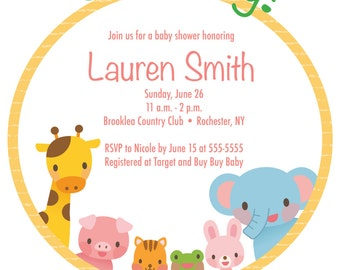Girl/pink Baby Shower Invite