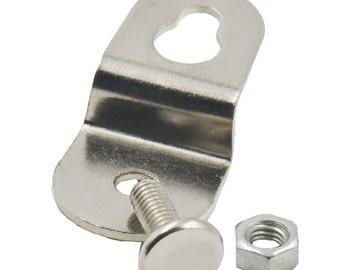 10 nipple nail knobs metal drawer bureau jewelry box for Crystal bureau knobs