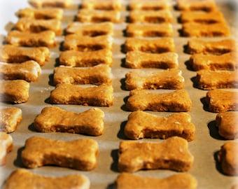 Organic Peanut Butter Honey dog biscuit bones...simple, natural, yum! 8oz or 16oz