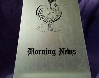 Vintage newspaper/recipe holder
