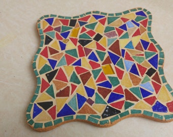 Mosaic trivet, Table decor, Housewarming mosaic art