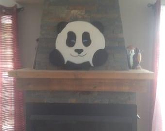 Panda-shaped wall hook / pet hook