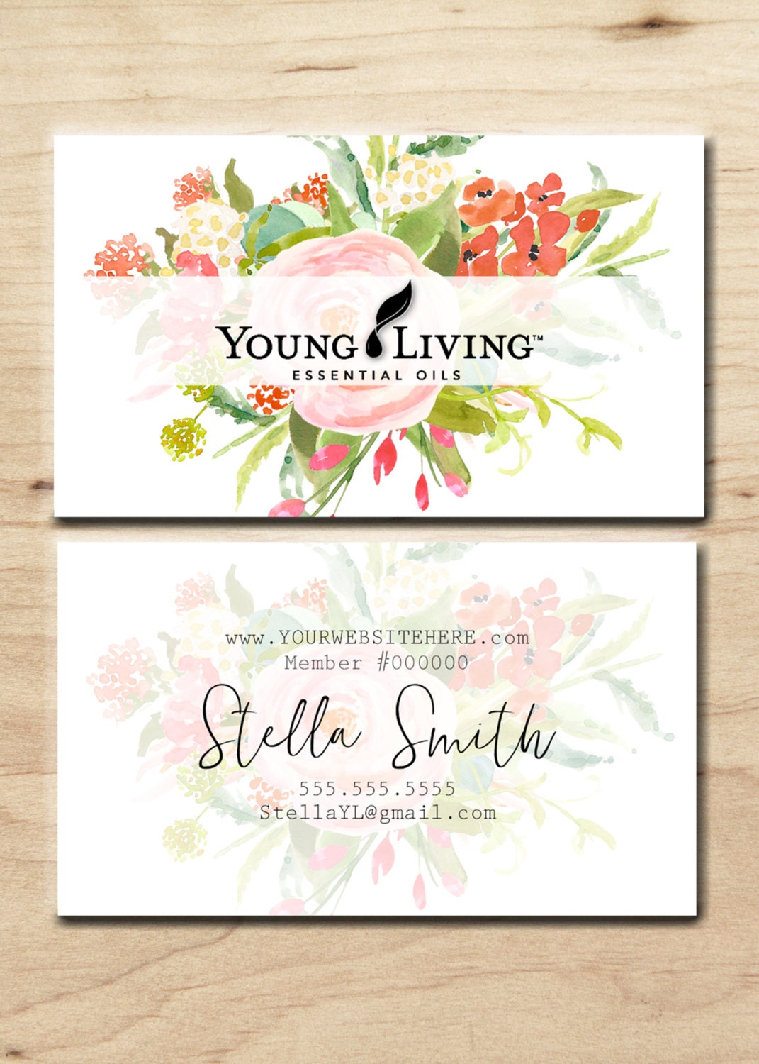 Beautiful Gallery Of Young Living Business Cards Business Cards