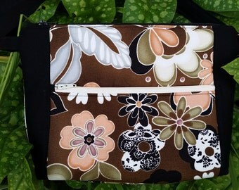 Brown flower purse