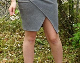 jupe porte-feuille (fourreau )