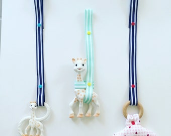 3 pack! Customized Leash for Sophie the Giraffe - Ready to Ship! Great baby shower gift!