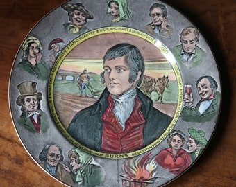 Early 1930s Royal Doulton Robert Burns Plate