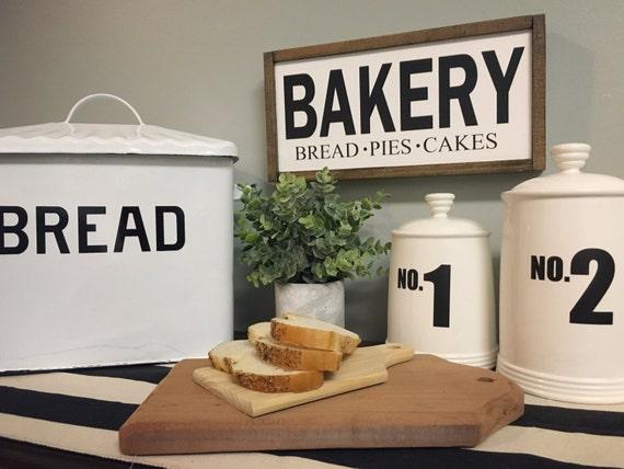 Bakery Sign, Custom Home Decor, Farmhouse Style Decor, Handwritten Font