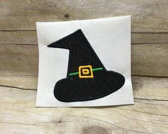 Witch Hat Applique, Witch Hat Embroidery Design Applique, Halloween Applique