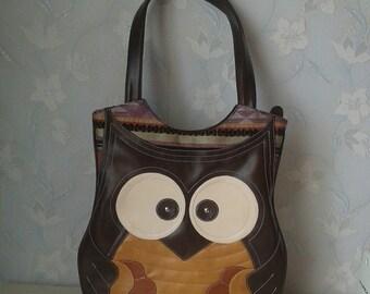 Owl bag, owl shoulder  bag, owl purse,  owl messenger bag, custom bag, owl love,owl  kids bag