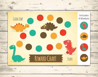 Printable Behavior Chart - DIY Rewards chart - Dinosaurs - Reward Chart - Behavior Chart - Potty Chart -  INSTANT DOWNLOAD