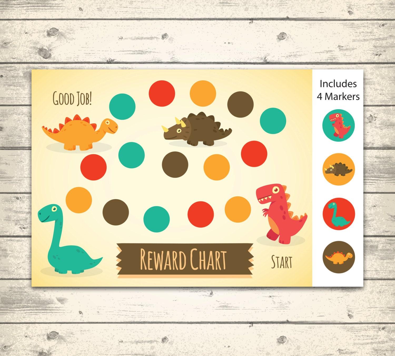 Printable Behavior Chart DIY Rewards Chart Dinosaurs