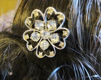 Vintage Rhinestone Wedding Hair piece, wedding hairpiece, rhinestone bridal hair piece, something old, vintage bridal, vintage wedding