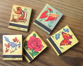 Vintage Ohio Matchbooks 1957 Lot of 5 Assorted Designs Unused Matches Intact