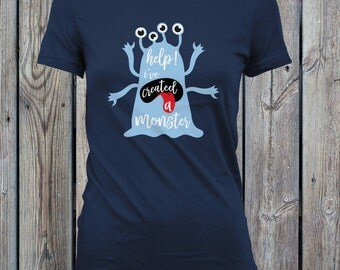 Help I've Created a Monster - Halloween Shirt, Matching Father Son Shirt, Matching Mother Daughter, Matching Family Shirts, Monster CCB-144