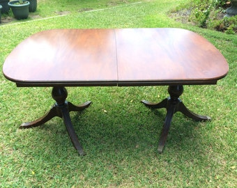 Vintage 1930s Double Pedestal Dining Table - Local Pickup ONLY