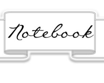 Notebook label - Simple Collection