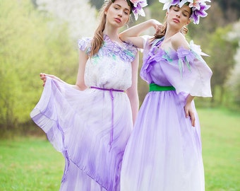unique dresses made from hand painted silk