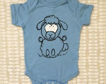 Lucy Sheep Blue Onesie