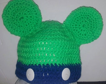 Crochet Mickey Mouse Hat Newborn to 5t