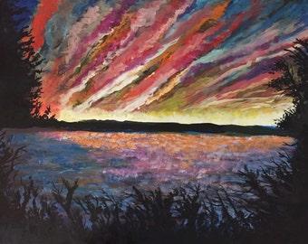 Winter Sunset Original painting