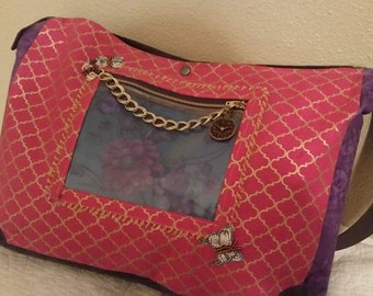 Alice through the looking glass inspired bag