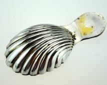Tea Caddy Spoon, Traditional Shell Shape, Caddy Spoon Victorian Style, no hallmarks, Cutlery, Vintage Flatware, U.K.