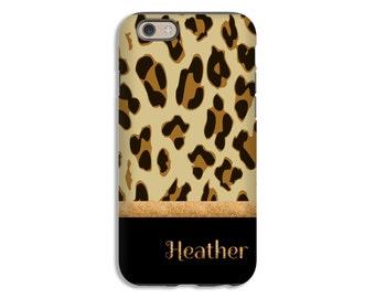 Leopard print iPhone 8 case/8 Plus case, iPhone 7 Plus case, iPhone 7 case, animal print iPhone 6s case, 3D wrap around iPhone case
