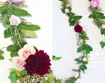 10 ft Flower & Foliage Garland