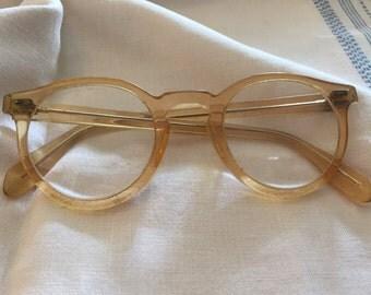 Vintage Yellow Cat-Eye Glasses