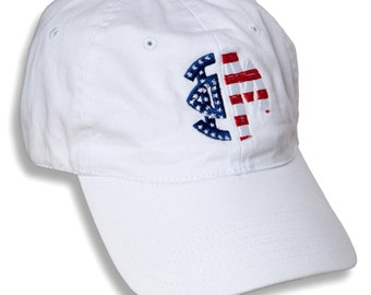PM  Phi Mu Sorority Embroidered Patriotic Baseball Hat.