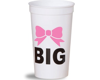 Big Sis, Big Sister Sorority Bow Stadium Cup.