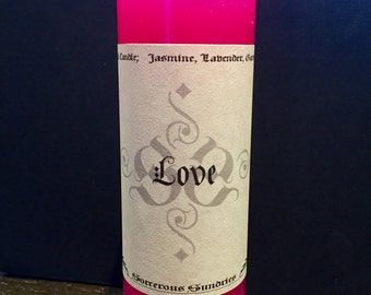 18cm Love spell pillar candle