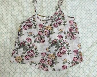 Ladies Floral SINGLET/TANK top