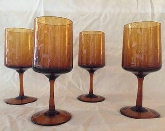 Mad men style mid century wine glasses