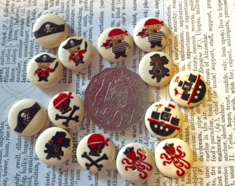 14 Pirate Buttons
