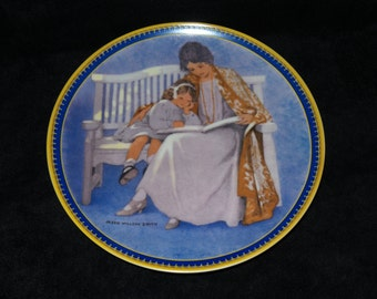 """1987 Knowles Childhood Holiday Memories """"Mother's Day"""" Collector Plate by Jessie Willcox Smith"""