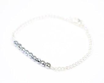 Delicate Dainty Silver Bracelet