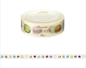 LADUREE colorful macaroons washi tape entire roll Sweets designed masking tape