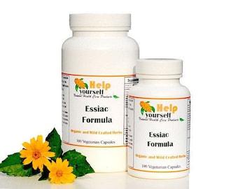 Essiac herbal formula 100 Vegetarian Capsules organic, kosher, halal, wild-crafted