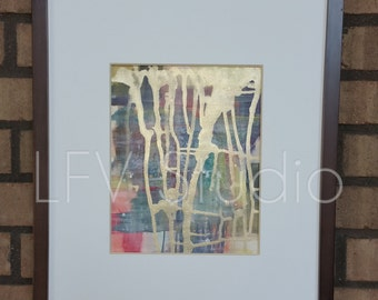 Original Abstract Watercolor & Acrylic Painting Multi-color Series #011 - LFV Studio