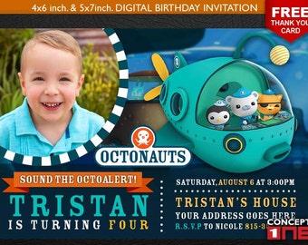 Octonauts Invitation, Octonauts Invites, The Octonauts Invitation, Octonaut Invites, The Octonauts Birthday, Octonauts Party, Octonauts